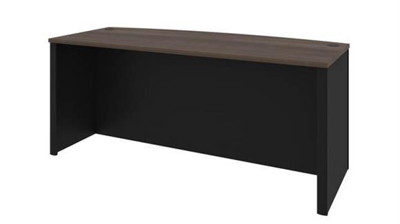 Executive Desks Bestar Office Furniture Bowfront Desk Shell