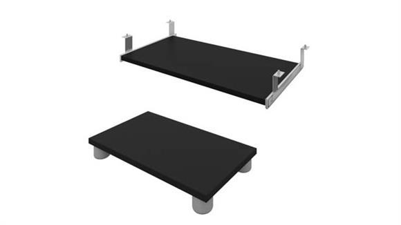 Keyboard Trays Bestar Office Furniture Keyboard Shelf and CPU Platform