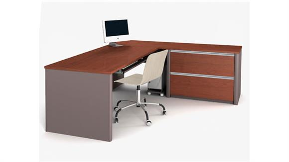 L Shaped Desks Bestar Office Furniture L Shaped Desk 93862