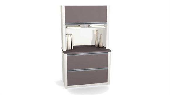 File Cabinets Lateral Bestar Office Furniture 2 Drawer Lateral File with Hutch