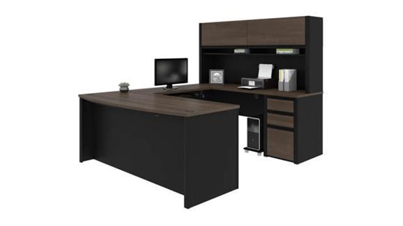 "U Shaped Desks Bestar Office Furniture 72""W x 93""D  U-Shaped Workstation"