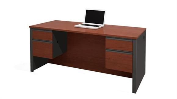 Executive Desks Bestar Office Furniture Double Pedestal Executive Desk 99450