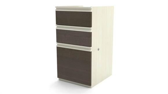 File Cabinets Vertical Bestar Office Furniture 3 Drawer Pedestal