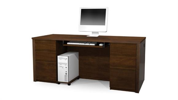 Executive Desks Bestar Office Furniture Double Pedestal Executive Desk 99850