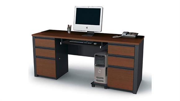 Office Credenzas Bestar Office Furniture Double Pedestal Credenza