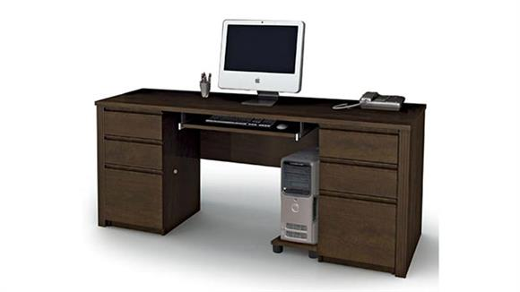 Office Credenzas Bestar Office Furniture Double Pedestal Credenza