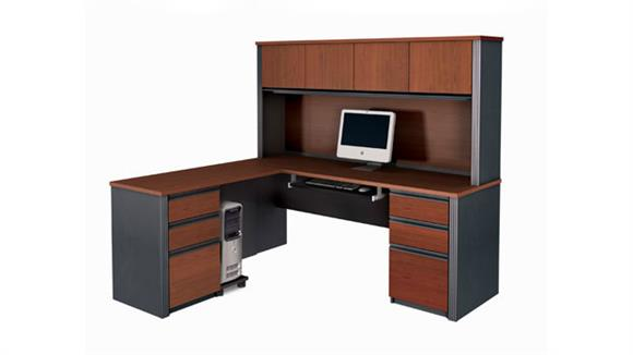 L Shaped Desks Bestar Office Furniture L Shaped Computer Desk with Hutch 99852