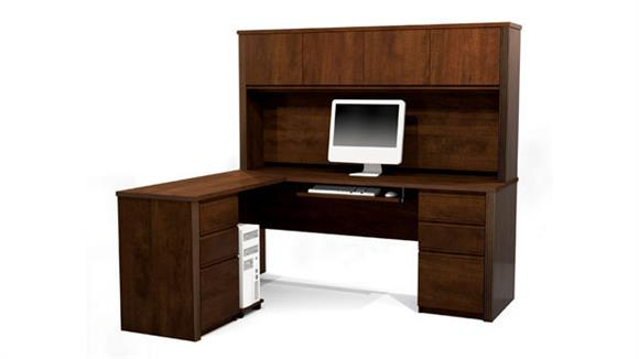 L Shaped Desks Bestar Office Furniture L Shaped Desk with Hutch 99852