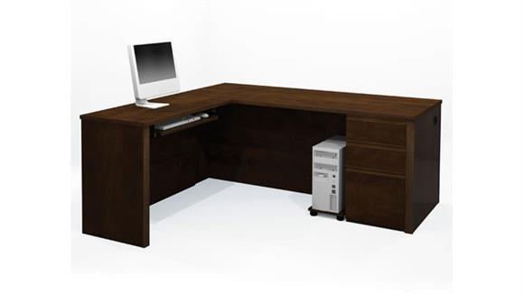 L Shaped Desks Bestar Office Furniture L Shaped Desk 99879 (Assembled Pedestal)