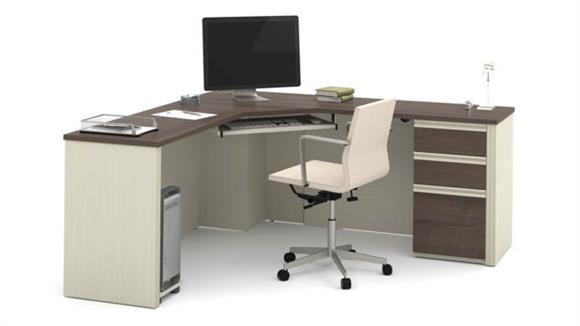 Corner Desks Bestar Office Furniture Corner Desk with 1 Pedestal
