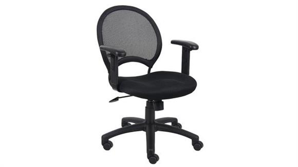 Office Chairs BOSS Office Chairs Mesh Task Chair with Adjustable Arms