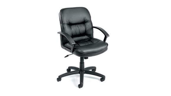 Office Chairs BOSS Office Chairs Mid Back Leather Executive Chair