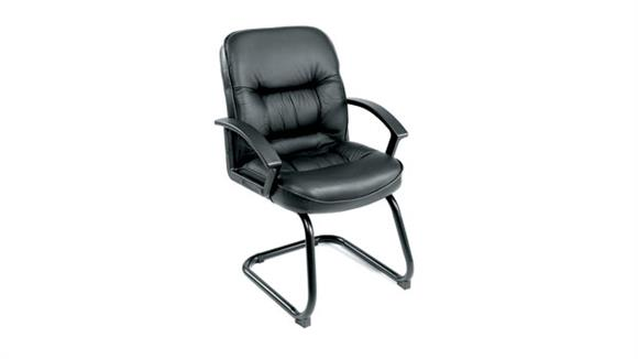 Side & Guest Chairs BOSS Office Chairs Black Leather Guest Chair