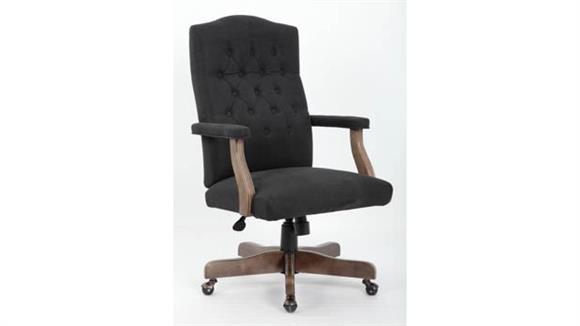 Office Chairs BOSS Office Chairs Executive Chair with Driftwood Frame
