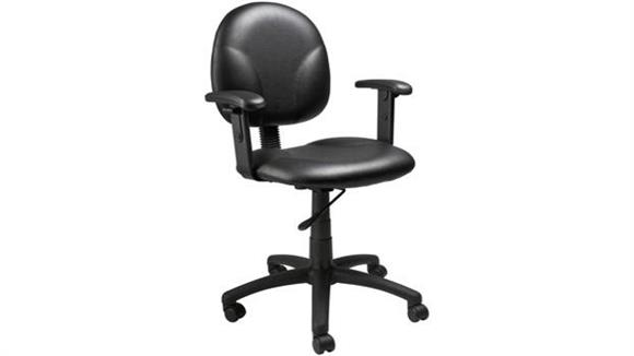 Office Chairs BOSS Office Chairs Black Caressoft Task Chair with Arms