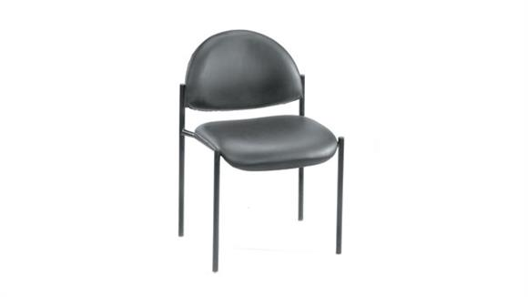 Stacking Chairs BOSS Office Chairs Black Caressoft Armless Stack Chair