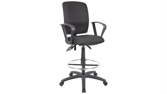 Drafting Stools BOSS Office Chairs Drafting Stool with Loop Arms