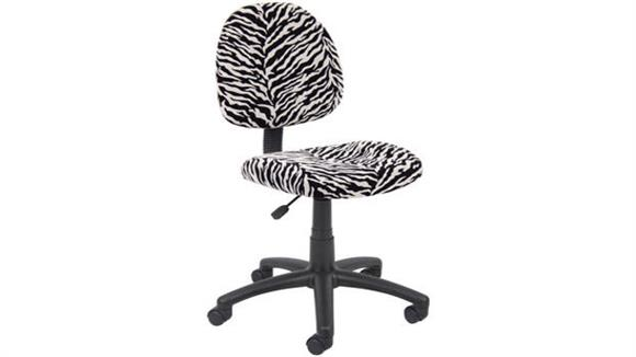 Office Chairs BOSS Office Chairs Zebra Print Task Chair