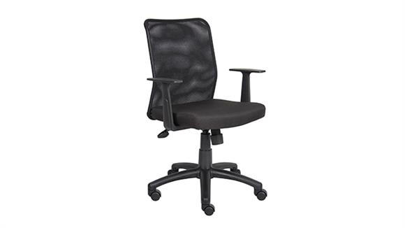 Office Chairs BOSS Office Chairs Mesh Back Task Chair with Arms