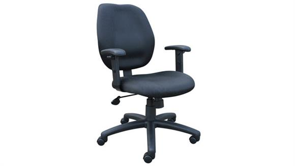 Office Chairs BOSS Office Chairs Mid Back Task Chair with Arms