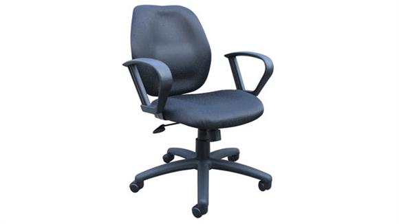 Office Chairs BOSS Office Chairs Mid Back Task Chair with Loop Arms