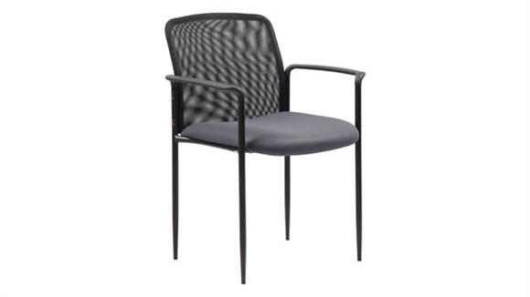 Side & Guest Chairs BOSS Office Chairs Stackable Mesh Guest Chair