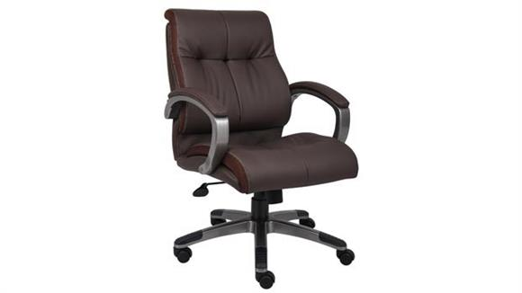 Office Chairs BOSS Office Chairs Double Plush Mid Back Executive Chair