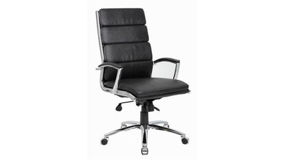 Office Chairs BOSS Office Chairs Executive Chair with Woven Textured Seat and Back Cushions