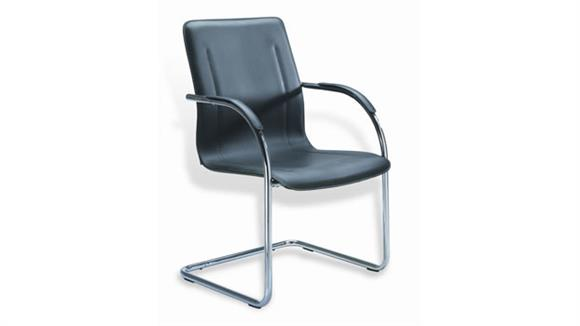 Side & Guest Chairs BOSS Office Chairs Guest Chair with Chrome Frame (Set of 2)