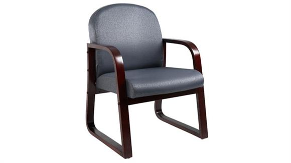 Side & Guest Chairs BOSS Office Chairs Mahogany Sled Base Fabric Guest Chair