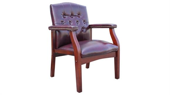 Side & Guest Chairs BOSS Office Chairs Traditional Style Vinyl Guest Chair