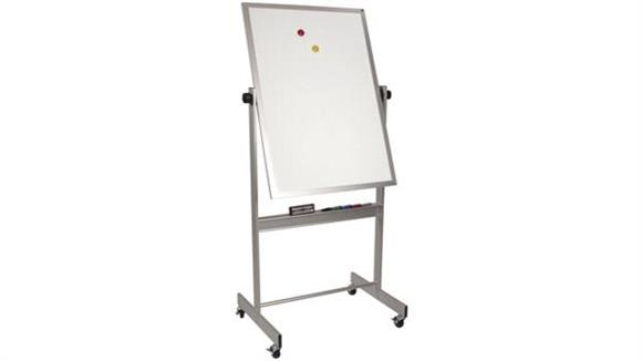 "White Boards & Marker Boards Best Rite 40"" x 30"" Porcelain/Cork Deluxe Reversible Board"