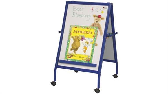 White Boards & Marker Boards Best Rite Magnetic Flannel Easel on Wheels