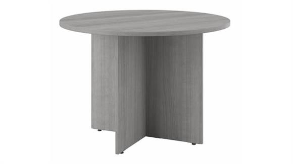 """Conference Tables Bush Furniture 42""""W Round Conference Table with Wood Base"""