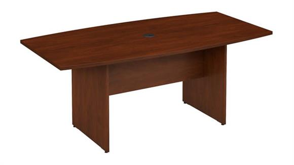 "Conference Tables Bush Furniture 72""W x 36""D Boat Shaped Conference Table"