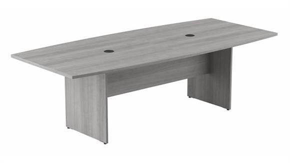 """Conference Tables Bush Furniture 96"""" W x 42"""" D Boat Shaped Conference Table with Wood Base"""
