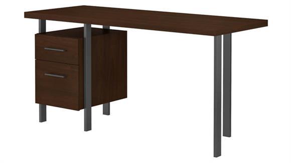 "Writing Desks Bush Furniture 60""W Writing Desk with Drawers"