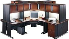 Workstations & Cubicles Bush Furniture 4 Person Workstation
