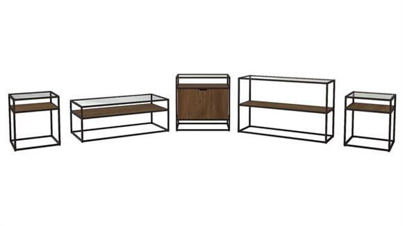 Coffee Tables Bush Furniture Coffee Table, Console Table, Storage Cabinet and Set of 2 End Tables