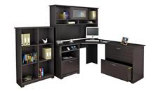 Corner Desks Bush Furniture Corner Desk and Hutch with Lateral File and Bookcase