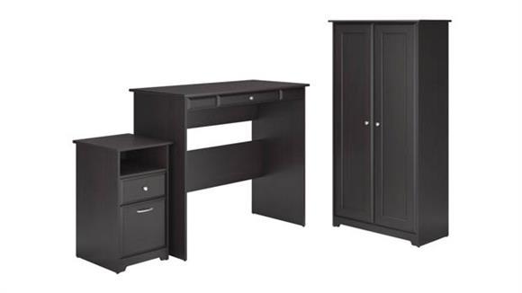 Standing Height Desks Bush Furniture Standing Desk, Storage Cabinet, 2 Drawer Pedestal