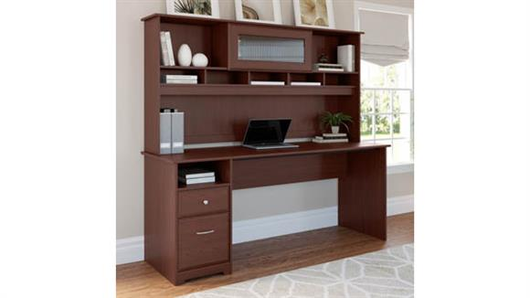 """Computer Desks Bush Furniture 72""""W Computer Desk with Hutch and Drawers"""