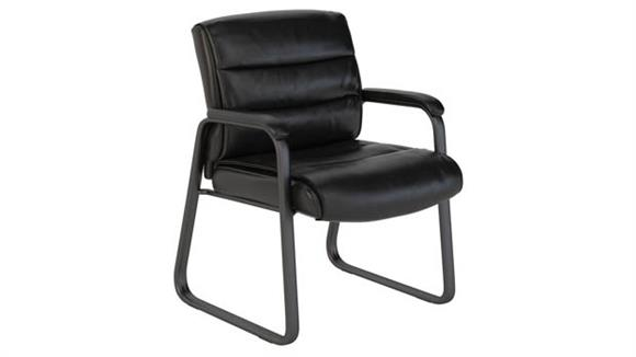 Side & Guest Chairs Bush Furniture Leather Guest Chair