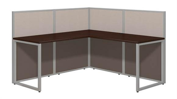 "Workstations & Cubicles Bush Furniture 60""W L-Desk Open Office with 45""Panels"