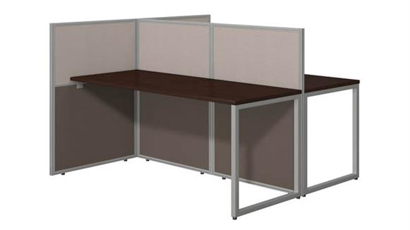 "Workstations & Cubicles Bush Furniture 60""W 2 Person Straight Desk Open Office with 45""H Panels"