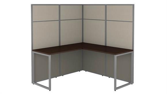 "Workstations & Cubicles Bush Furniture 60""W L Shaped Cubicle Desk Workstation with 66""H Panels"