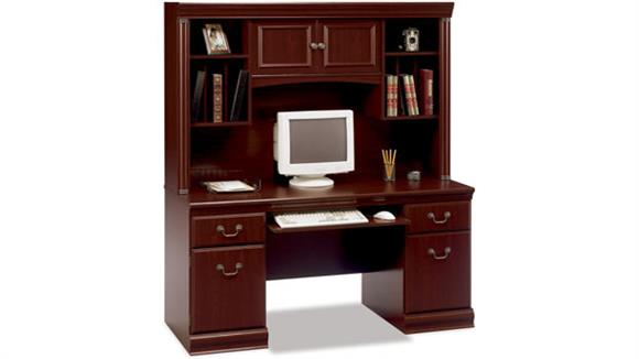 Office Credenzas Bush Furniture Executive Credenza with Hutch