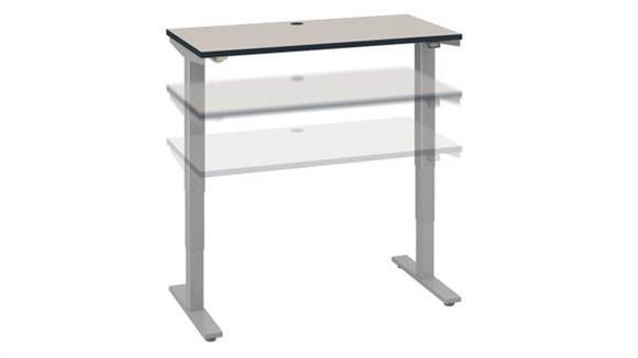 "Adjustable Height Desks & Tables Bush Furniture 48""W x 24""D Electric Height Adjustable Standing Desk"