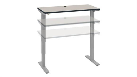 "Adjustable Height Desks & Tables Bush Furniture 48""W x 30""D Electric Height Adjustable Standing Desk"