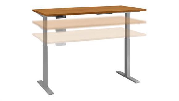 """Adjustable Height Desks & Tables Bush Furniture 60""""W x 24""""D Height Adjustable Standing Desk"""